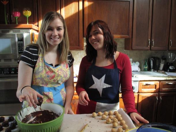 Sister and I baking